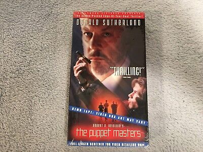 The Puppet Masters 1994 Vhs Horror Donald Sutherland Promo