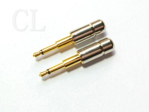 100pcs Gold Plated mini Copper 2.5mm Mono plug Audio plug soldering connector