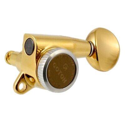 Gold Gotoh Magnum Lock-Trad 6-In-Line Tuners