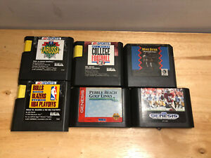 Lot-6-Sega-Genesis-Sports-Games-All-Tested-amp-Working-Football-Basketball-Golf