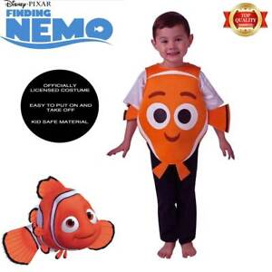 Official Nemo Clown Fish Costume Toddler 1 3y Child Kids Orange