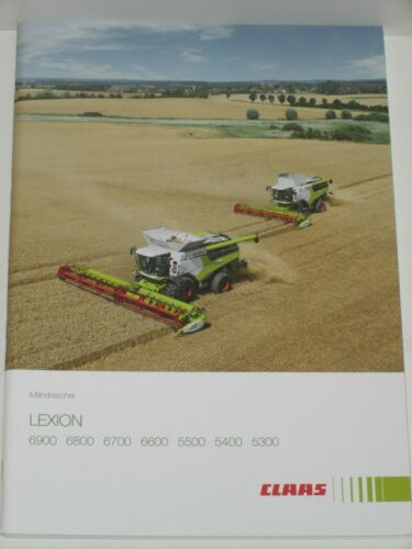 6700 6800 MD 40 Claas lexion 6900 6600 cosechadoras folleto de 10//2019