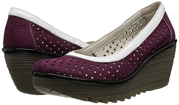 FLY LONDON YARE597FLY CUPIDO LEATHER COURT Schuhe WEDGES UK 5 EUR 38