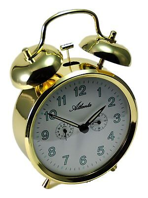 100% Quality Atlanta Mechanischer Reisewecker Gold 1098/9 Glockenwecker Wecker Metallgehäuse A Great Variety Of Models Home Décor Alarm Clocks & Clock Radios