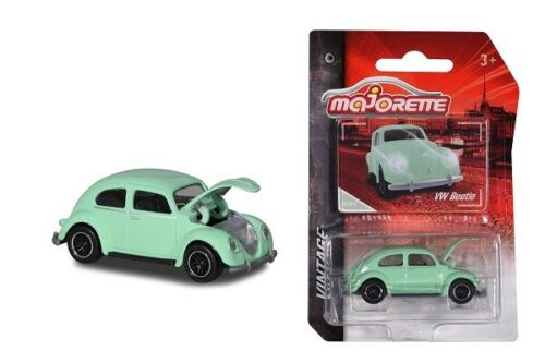 Majorette 212052010q01-vintage Cars-VW Beetle-mintgrün-nuevo