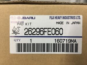 Rear Brake Pad Kit Subaru Outback Legacy Forester Impreza WRX 26696AG031 Genuine