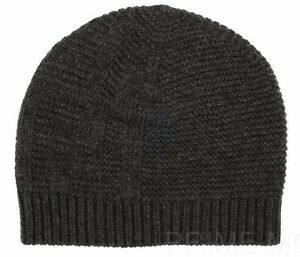 9f2d34b85a0 NEW FENDI GRAY KNIT WOOL CASHMERE BLEND FF LOGO BEANIE HAT ONE SIZE ...