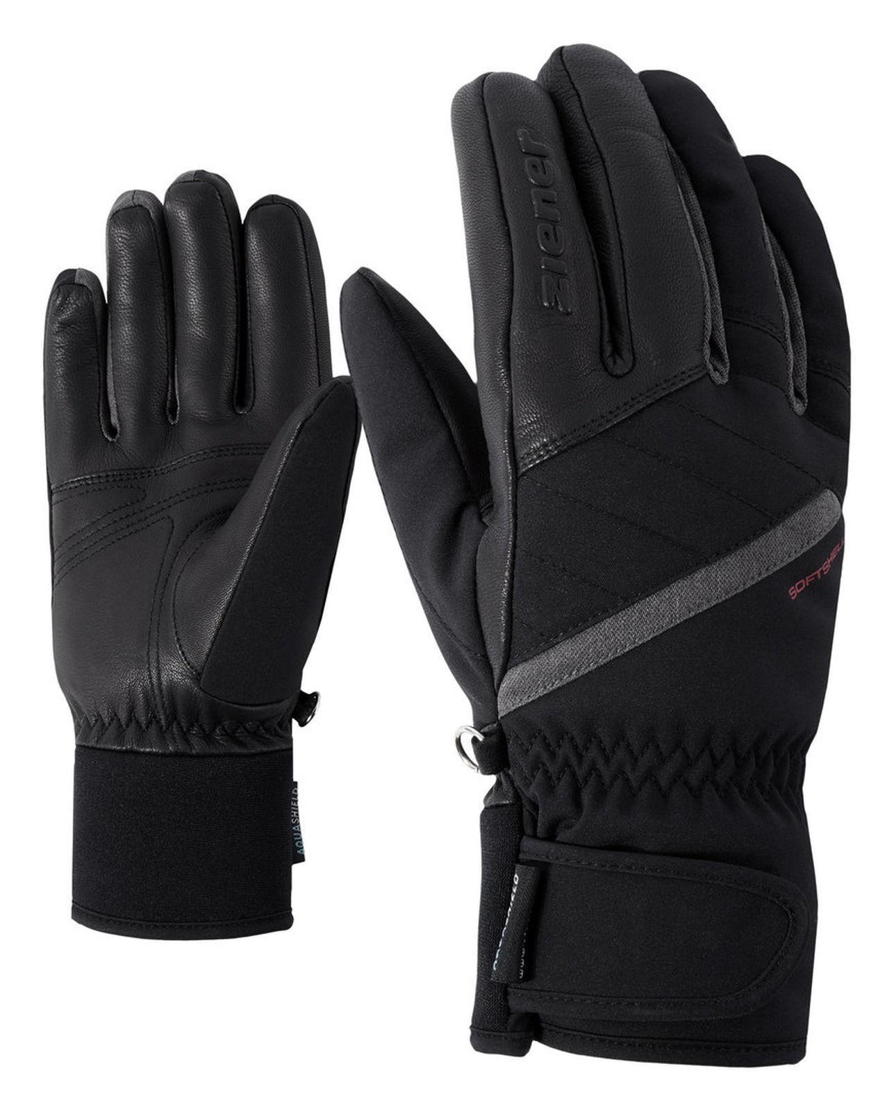 Ziener Damen Skihandschuhe KASADA AS® AS® KASADA lady glove  schwarz grau 181103 12858 1da93a