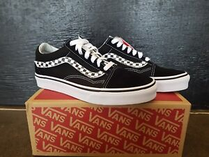 ce2d45c56b84d0 NEW IN THE BOX VANS OLD SKOOL SIDESTRIPE V BLACK WHITE VN0A38G1UJJ ...