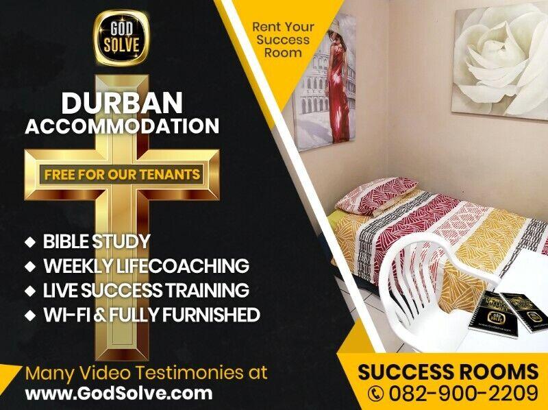 Student Accommodation Durban City. Praise, Worship, Prayer, Free WiFi, Gym, Pool, Free Mentor Onsite