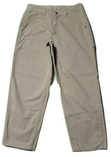 lee dungarees carpenter jeans work wear beige men