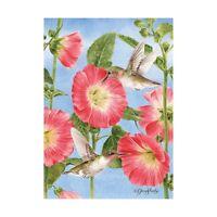 Hummingbirds Hollyhocks Sm Garden Flag 12.5 X 18 Seasonal 11-12140-94 Spring