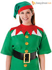 Adults Santas Little Helper Kit Mens Ladies Christmas Elf Fancy Dress Costume