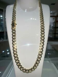 10K CUBAN LINK CHAIN JUMBO SIZE 13MM 28 INCH 79.3 GRAMS WITH BOX LOCK Canada Preview