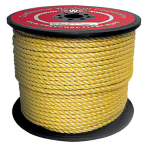 CWC 3-Strand Polypropylene Rope - 5 16  x 600 ft., Yellow