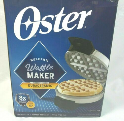 New Oster Titanium Infused DuraCeramic Waffle Belgian Maker CKSTWF1502-TECO
