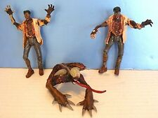 "RESIDENT EVIL ~ Lot LICKER Figure & 2 Lab Coat ZOMBIE 5"" FIGURES (1998) Toy Biz"