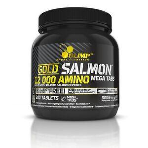 OLIMP-Gold-Salmon-12000-Amino-300-Mega-Tabs-ATLANTIC-SALMON-PROTEIN-HYDROLYSATE