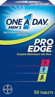 3 Pack One-a-day Men's Pro Edge Complete Multivitamin 50 Tablets Each on sale