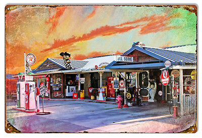 Nostalgic Texaco Full Service Gas Station Reproduction Sign 12x18