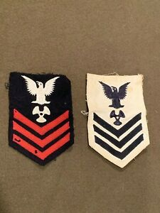 US-Military-WWII-Navy-Shoulder-Patches-Petty-Officer-1st-Class-Propulsion-Plant