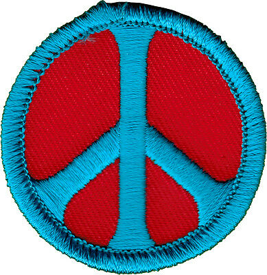 51093 Peace Sign Purple And Green Love Hippie Hippy 60s Sixties Iron On Patch