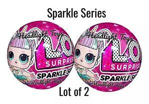 Set-of-2-LOL-Surprise-Sparkle-Series-6-Balls-Big-Sister-Brother-Dolls-1-3-4-5