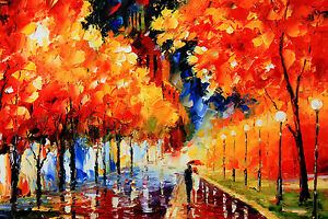 Painting-PRINT-rain-walk-Large-Modern-Abstract-Art-Wall-Deco-canvas-Australia