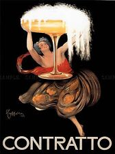 ADVERT CHAMPAGNE CONTRATTO ITALY DRINK ALCOHOL POSTER ART PRINT PICTURE BB1727A