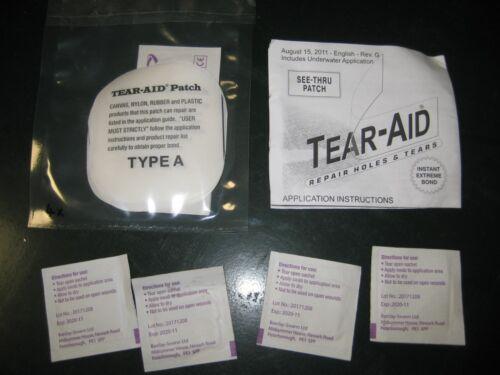 6 x Tear-Aid Patch de réparation Kit Tentes Camping Bouncy Châteaux pneumatiques