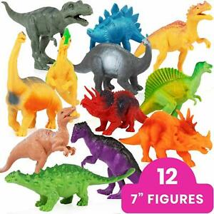 Dinosaur-Toys-for-Boys-amp-Girls-3-Years-amp-Up-7-Dinosaurs-12pk-Animal-Figures