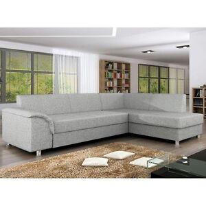 Corner Sofa Bed BARDOT Bargain with Storage Container Sleep