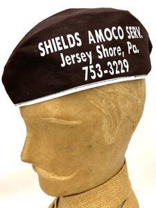 Amoco American Gas Station Attendant Hat Gas Oil Sign Pump Original Vintage