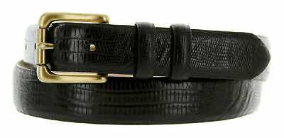 "Arthur Genuine Italian Calfskin Leather Designer Dress Belt 1-1/8"" Wide"