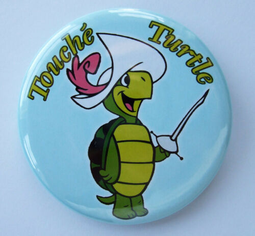 TOUCHÉ TURTLE LARGE badge button pin - CLASSIC touche! 2.2 inch,56MM