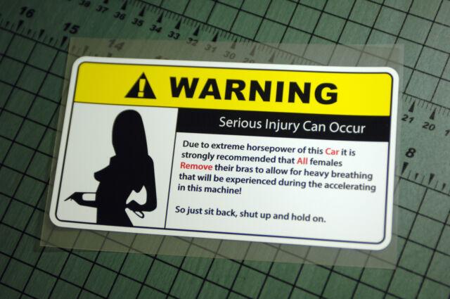 REMOVE CLOTHING WARNING Sticker Decal Vinyl JDM Euro Drift Lowered illest