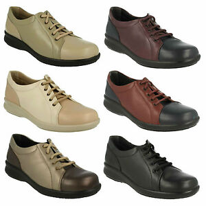 2d400ccc580bc EASY B DB LADIES LEATHER LACE UP FLAT CASUAL EVERYDAY SMART WIDE ...