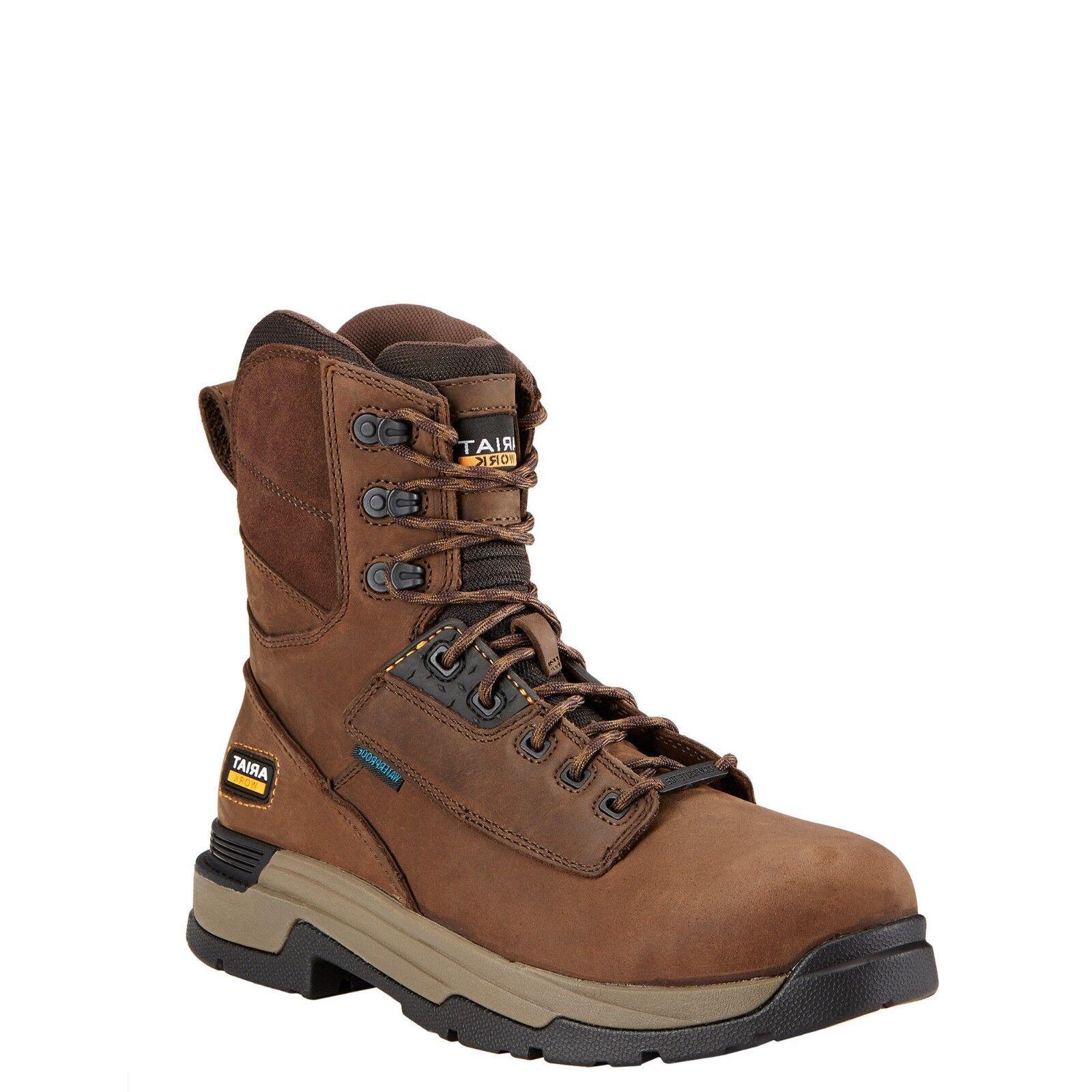 Ariat® Men's MasterGrip Waterproof Composite Toe Brown Work Boots 10017429