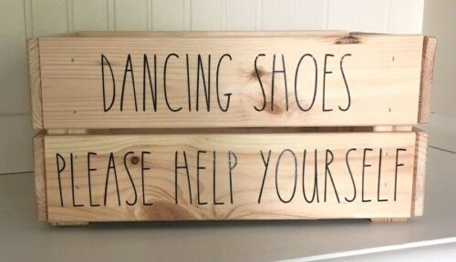 /'DANCING SHOES/' Vinyl Decal Stickers DIY Wedding Flip Flop Crate
