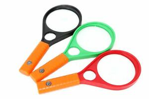 Large Childrens Magnifier Magnifying Glass with Compass in Handle