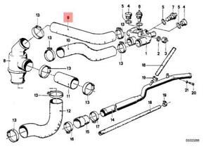 bmw e28 engine diagram genuine bmw e28 e30 cooling system thermostat water hose oem  genuine bmw e28 e30 cooling system