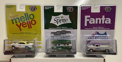 1//64 Complete Set Of 3 Cars M2 Machines Coca Cola Release A03