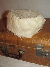 Vtg Womens Bridal Pillbox Hat Dressy Art Deco 1920s 30s 40s Small Medium Cream