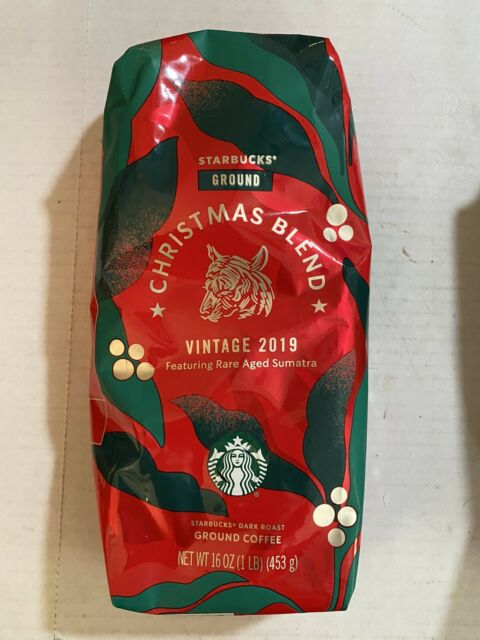 Starbucks Christmas Blend Vintage 2019 Ground Coffee, 1lb ...