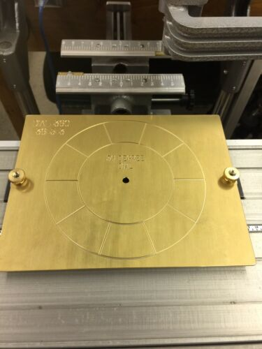 SOLID BRASS 36 DEGREE INSTRUMENT DIAL FOR 10 POSITION ROTARY SWITCH BACK PLATES