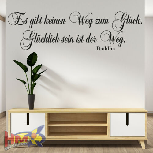 HM © Wall Tattoo there is no way to happiness up to 240 x 69 cm WT-0121
