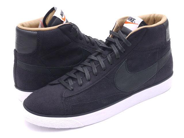 Nike Men's Blazer Mid SP Tonal Suede Pack Cas, 709659 001 Size 11 Black/White