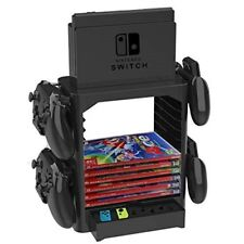 Nintendo Switch Ständer Homebase Stand Controller 10 Spiele Zubehör Aufbewahrung