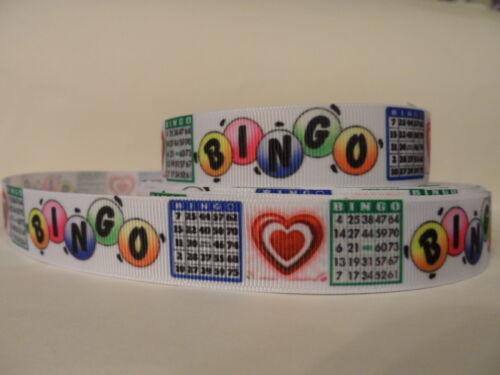 "Grosgrain Ribbon 7//8/"" Bingo Cards Fun Games Red Hearts Nursing Home Games"