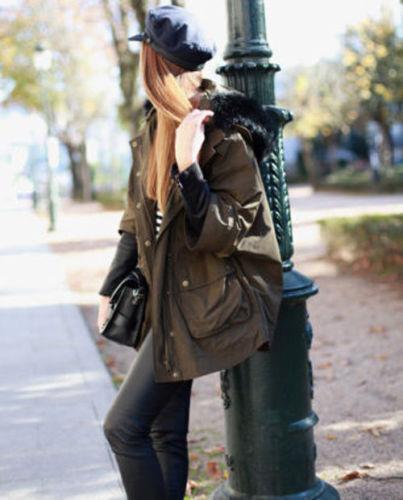 Combinaison Manches Petit Cuir En Parka Kaki Manteau Zara Taille Blogueurs S Veste 5g6pnq